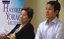 Prof. Winnie Monsod and Transparency and Accountability Network Executive Director Vince Lazatin